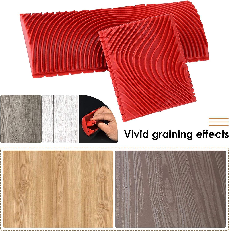 Katigan 2PCS 3 Inch 6 Inch Imitation Wood Grain Paint Roller Brush ...