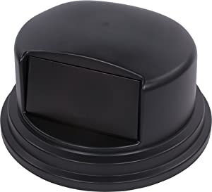 "Carlisle 34105703 Bronco Polyethylene Dome Lid, 27-1/4 x 14-1/2"", Black, For 55-gal. Trash Containers"