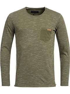 Indicode Herren Bakersfield Longsleeve Langarmshirt Shirt mit  Rundhalskragen 6 Farben S-XXL 23ad3a09c7