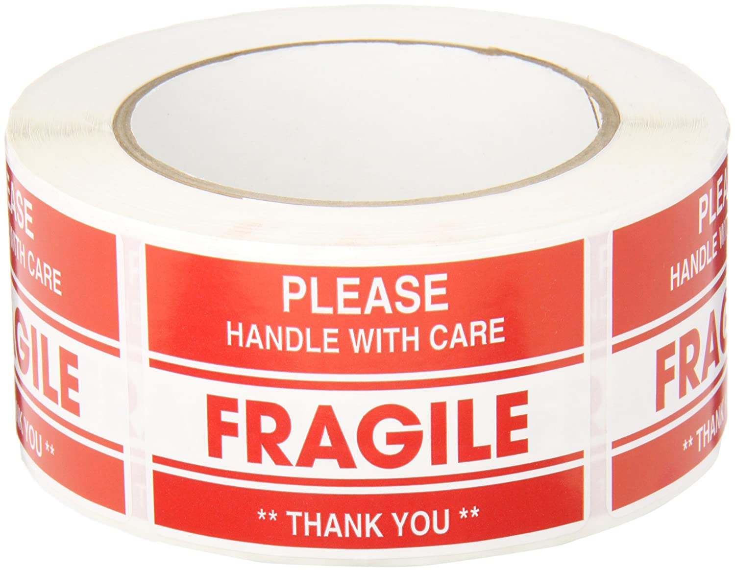 TapeCase Fragile, Thank You Label - 50 per pack (1 Pack) TapeCase Fragile SHIPLBL-041-50