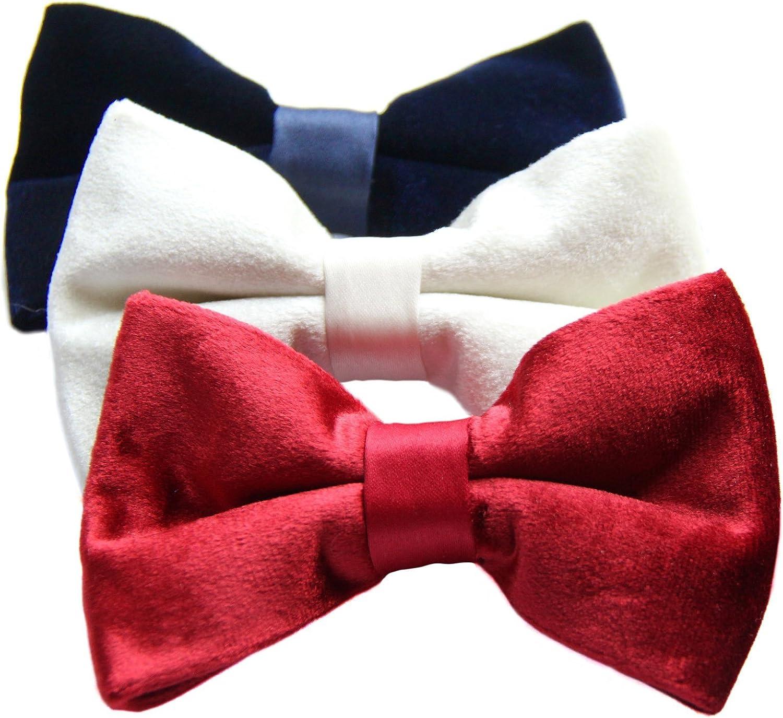 Velvet Pre-tied Bow Tie 3-pack