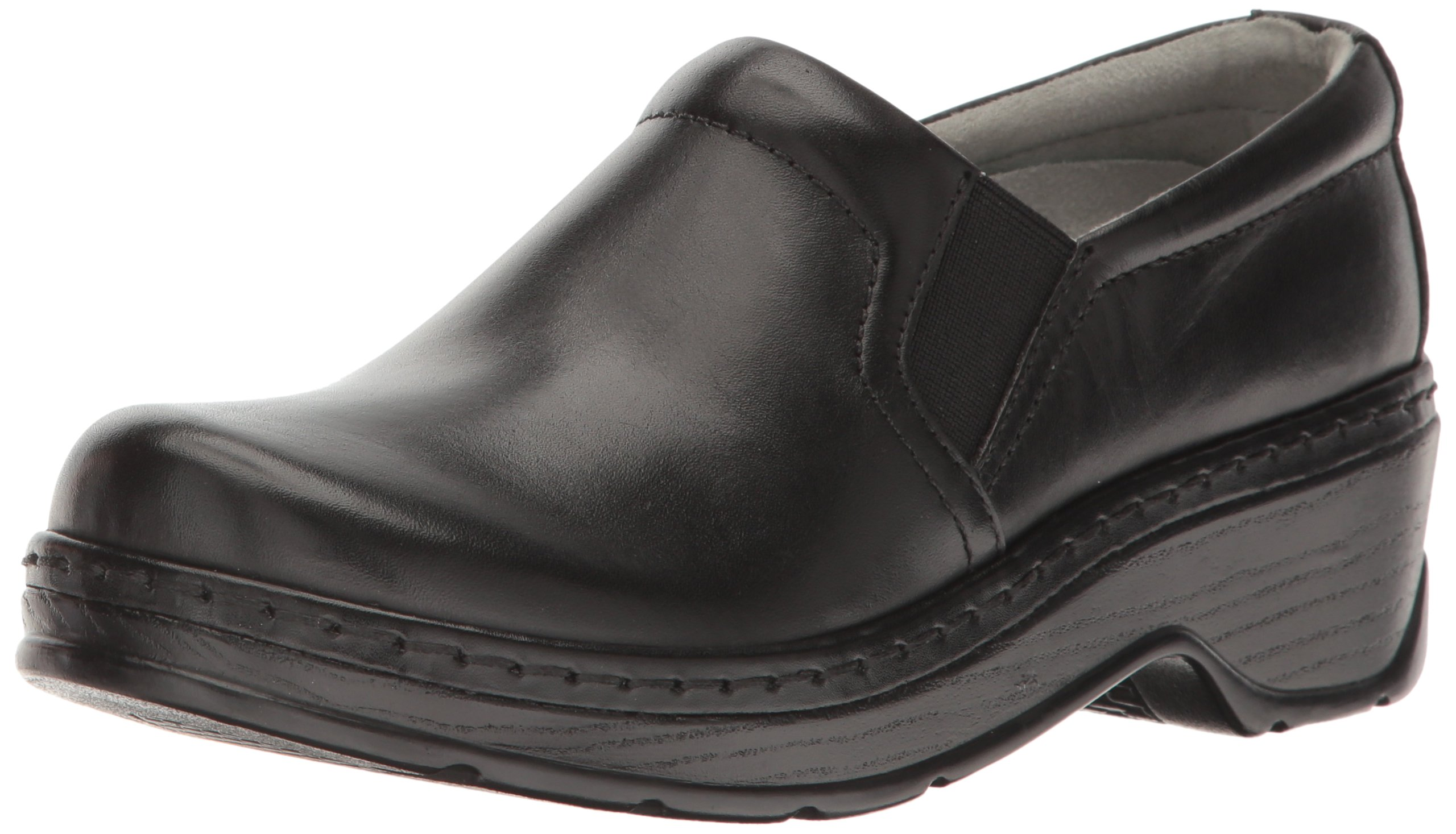 Klogs USA Women's Naples Clog,Black Smooth,10 M US