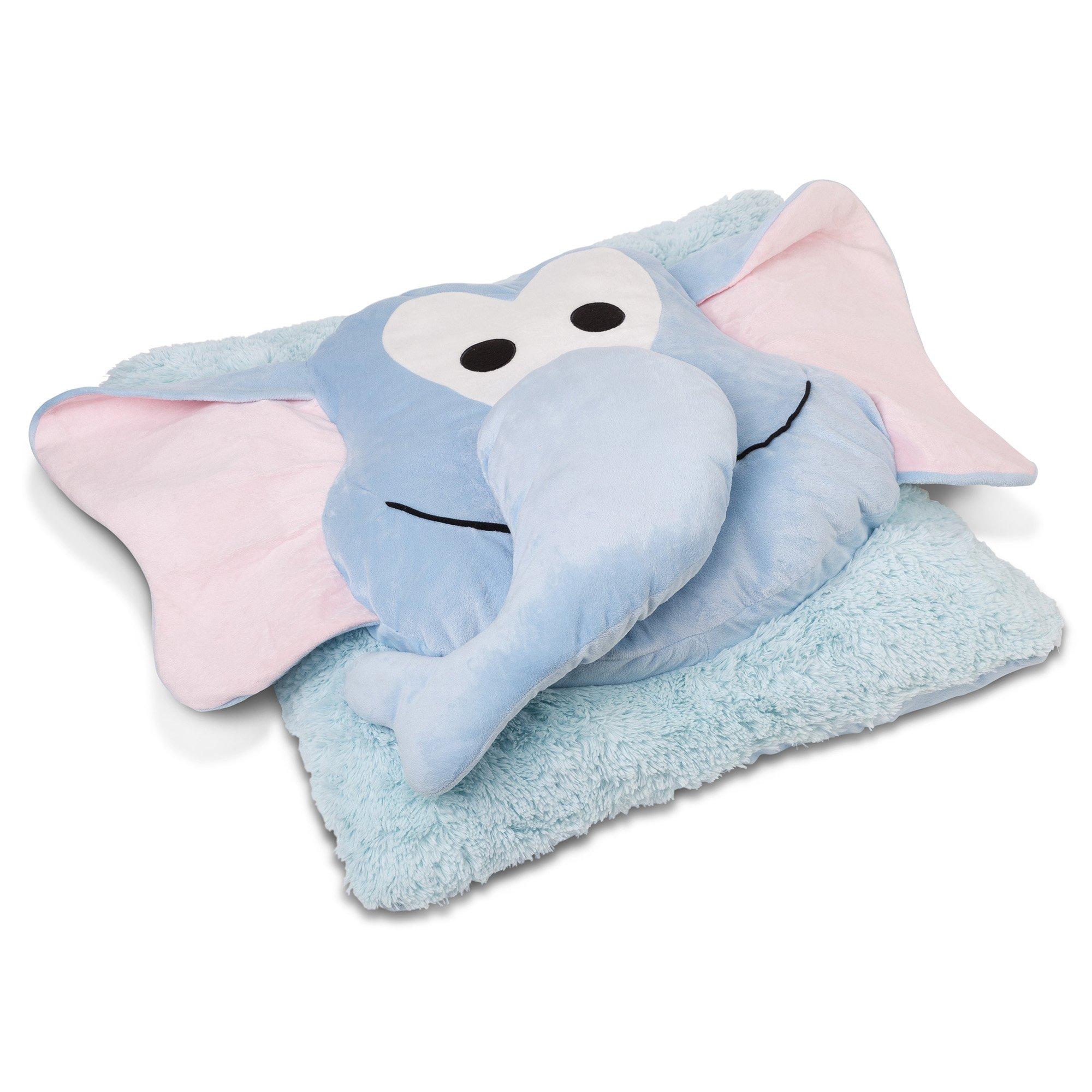 Safdie & Co. Elephant Fun Plush Oversized Floor Pillow