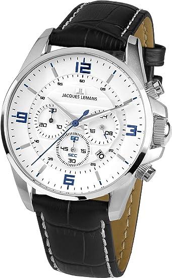 Jacques Lemans Liverpool - Reloj de pulsera analógico para mujer cuarzo piel 1 - 1857b: Amazon.es: Relojes