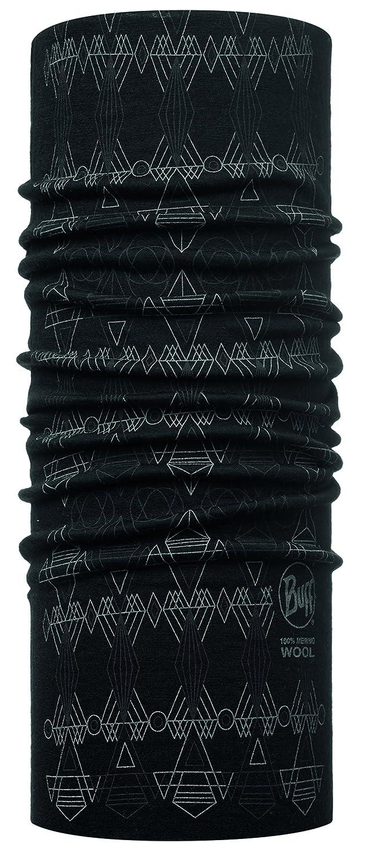 Original Buff - Merino Wool Patterned & Dyed Stripes/ Tie Dye, color militar