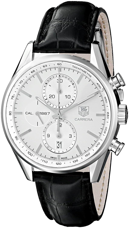 Tag Heuer Men s CAR2111.FC6266 Carrera Silver Dial Dress Watch