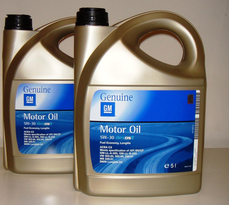 General Motor Oil 1l 5 W30 Dexos 2 Fuel Economy Long Life Pack Of 2 Bleach 5 Litre Auto