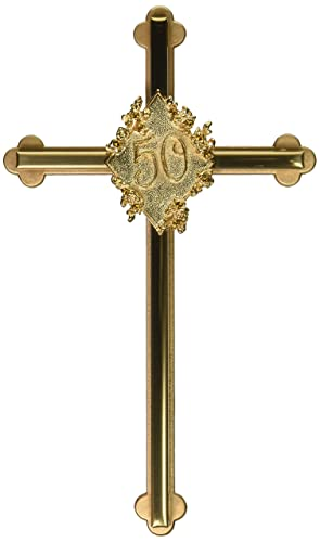 Cathedral Art 50th Anniversary Cross with Topaz Stones, 8-Inch