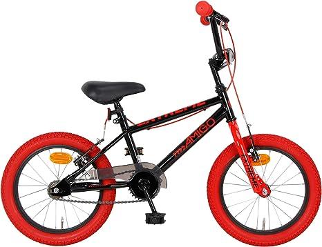 AMIGO Extreme Niños BMX 16 pulgadas 25,4 cm Junior Felgenbremse negro/rojo: Amazon.es: Deportes y aire libre