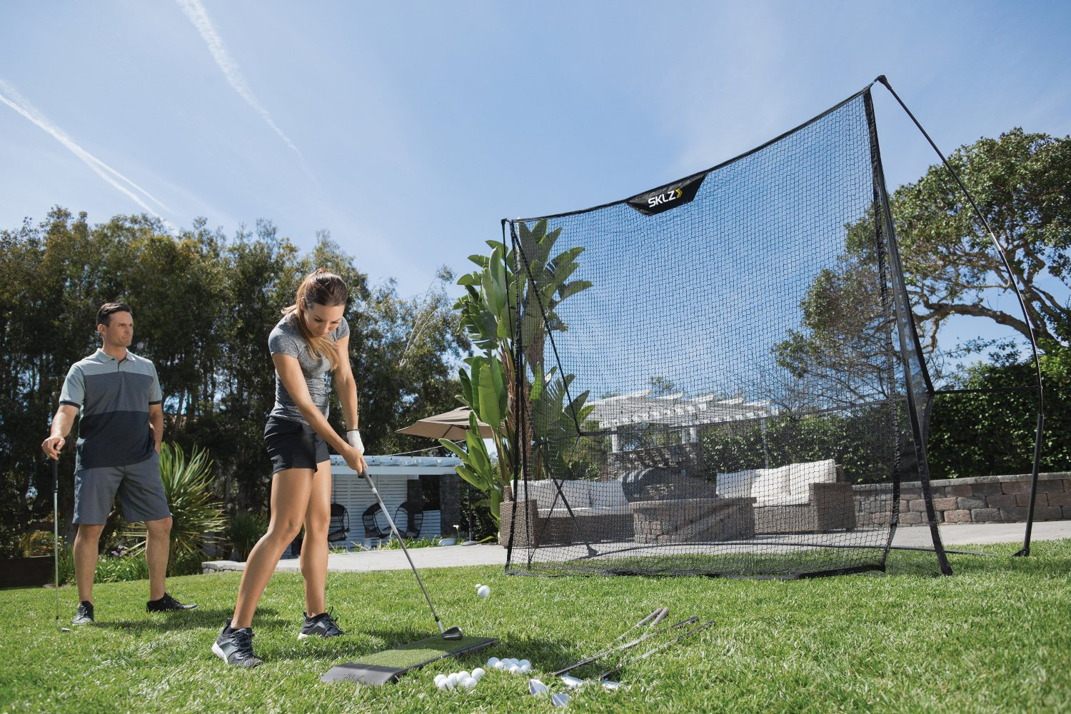 SKLZ Dual Net - 8.5' x 8.5' Premium and Durable Golf Training Net. by SKLZ (Image #4)