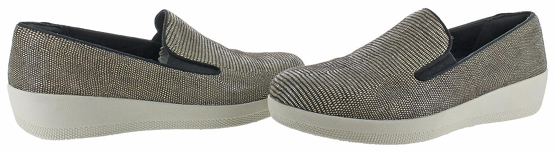FitFlop Women's Superskate Lizard-Print Suede Loafer Flat Brown B01M0EZXO4 10 B(M) US|Chocolate Brown Flat 14ff5c