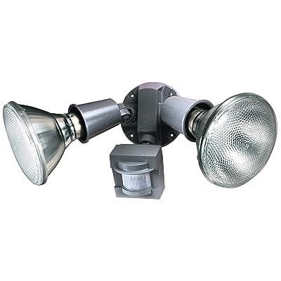 Heath Zenith SL-5408-GR 110-Degree Motion-Sensing Flood Security Light, Gray - Motion Sensor Light - .com