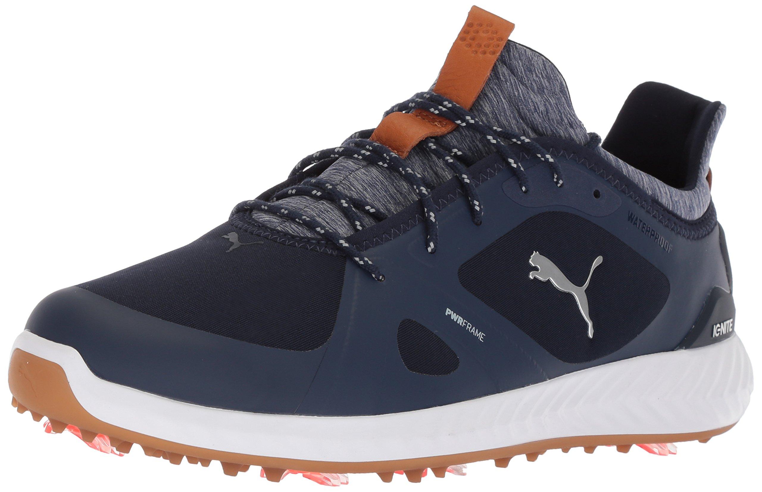 PUMA Golf Men's Ignite Pwradapt Golf Shoe, Peacoat/Peacoat/White, 10 Medium US