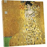 """Niwo ART (TM) - Portrait of Adele Bloch Bauer I, by Gustav Klimt, Oil painting Reproduction - Giclee Wall Art for Home Decor, Gallery Wrapped, Stretched, Framed Ready to Hang (16""""x16""""x3/4"""")"""
