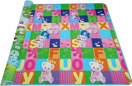 tapis de jeu de carte du monde multicolore motif animalier tapis de jeu pour b/éb/é rampant pour enfant en bas /âge Tapis de jeu pour b/éb/é