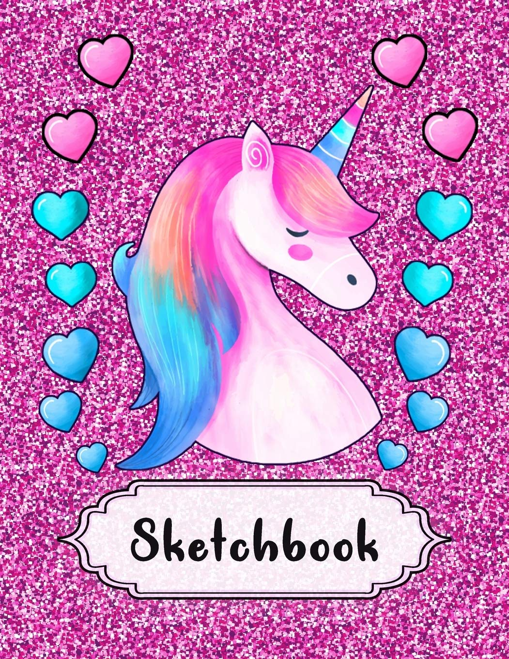Amazon Com Sketchbook Cute Unicorn On Pink Glitter Sparkles Effect Background Large Blank Sketchbook For Girls 110 Pages 8 5 X 11 For Sketching Drawing Crayon Coloring Kids Drawing Books 9781696815253 Storytime Project