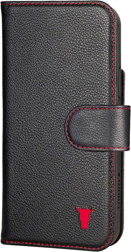 Bumper Arri/ère en Cuir V/éritable avec Connection MagSafe int/égr/ée TORRO /Étui Compatible avec iPhone 12 et iPhone 12 Pro Marron Clair