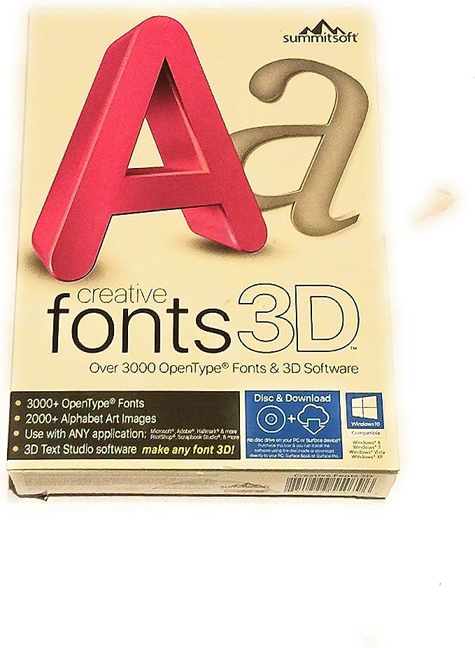 Amazon Com Creative Fonts 3d