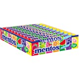 EUROPEAN MENTOS RAINBOW Flavors Pack of 20 Individual Rolls in a Box. 20 x 37.5g