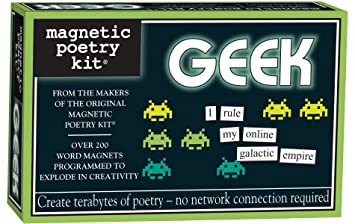 Review Magnetic Poetry - Geek Kit - Words for Refrigerator - Write Poems and Letters on the Fridge - Made in the USA