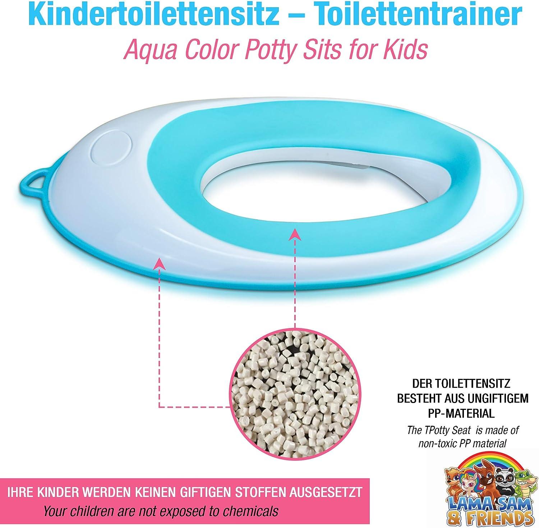 Lama Sam /& Friends si/ège de toilette pour gar/çons et filles surface antid/érapante s/ûre Pot Si/ège dapprentissage pour les enfants