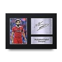 Mohammed Salah A4-Autogramm, Druck mit Signatur, Liverpool, großartige Geschenkidee.