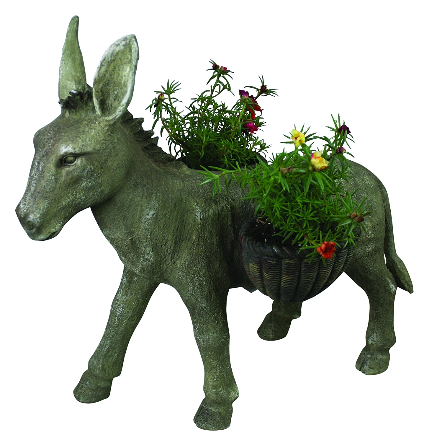 Resin Indoor Outdoor Donkey Planter Decor