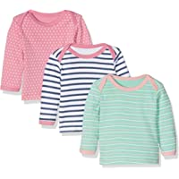 Care Camiseta Manga Larga Bebé-Niñas, Pack de 3