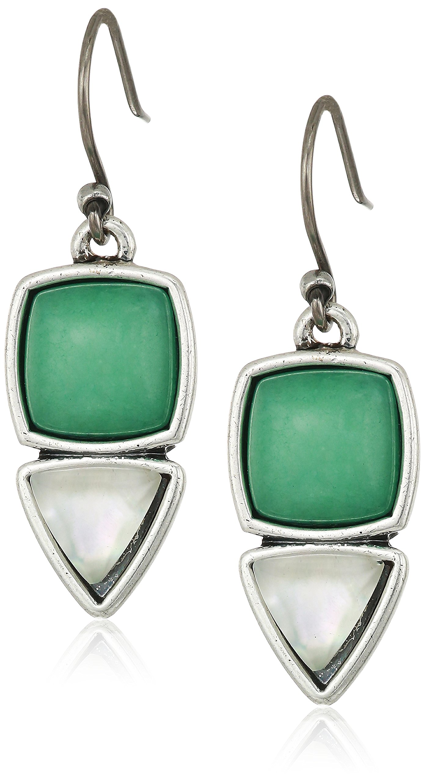 Lucky Brand Womens Set Stone Earrings, Silver, One Size