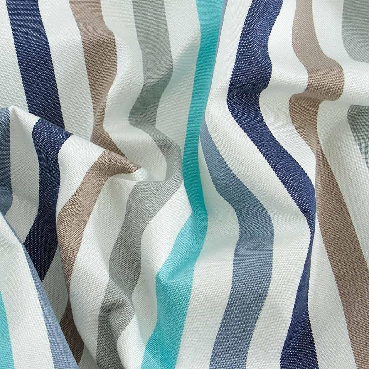 Tessuto per tende da sole al metro Righe blu Garden M738