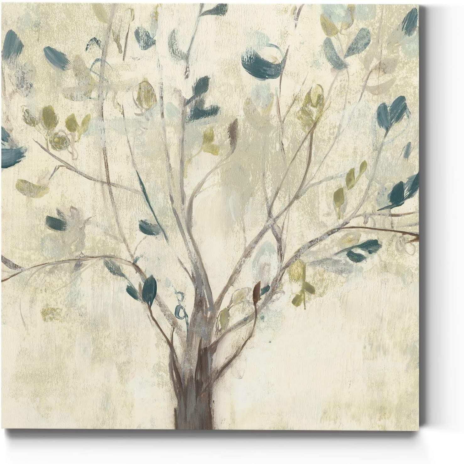 Neutral Color Wall Art, Wall Décor Canvas, Beaches, Floral, Animals, Bohemian, & Vintage Styles, Ready to Hang -Trees of Blue I 32X32