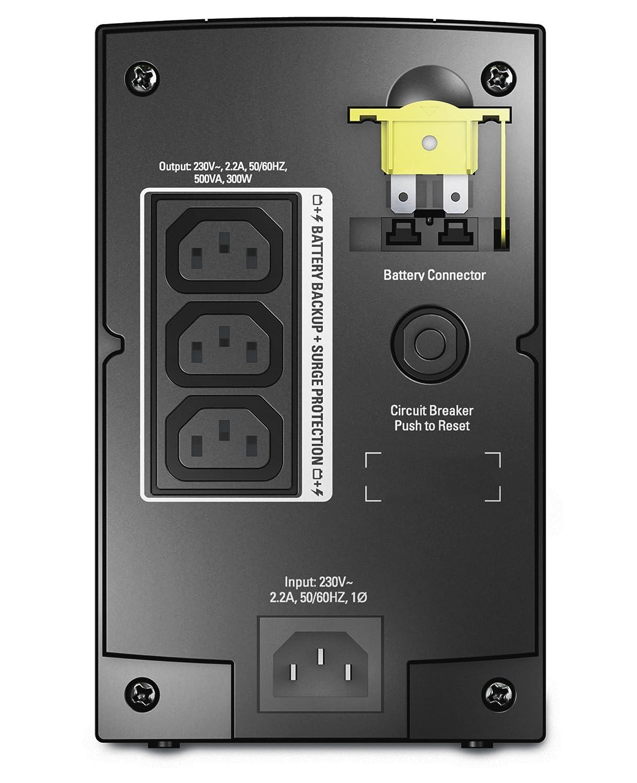 APC Back-UPS BX - BX500CI - Uninterruptible Power Supply 500VA (AVR, 3  Outlets IEC-C13)
