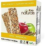 Libre Naturals Apple Cinnamon Chewy Granola Bars - Vegan, Gluten-Free, Kosher, Nut-Free, Non-GMO, Dairy-Free, No…
