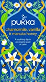 Pukka Chamomile, Vanilla & Manuka Herbal Tea Bags, 20 Count, 1.6 Grams