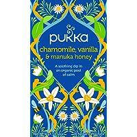 Pukka Chamomile, Vanilla & Manuka Herbal Tea Bags, 20 Count, 1.6 Grams