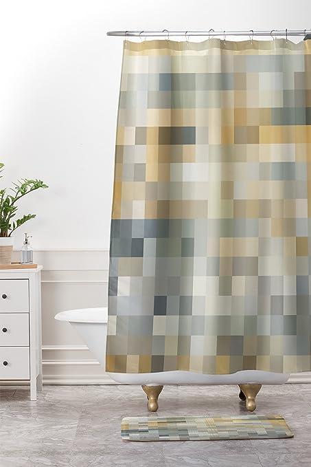 Amazon Deny Designs Desert Sand Shower Curtain Bath Mat Set