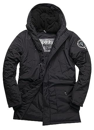 Superdry Everest Parka, Veste Homme, Noir (Black02A), L  Amazon.fr  Vêtements  et accessoires 525a9995aa6a
