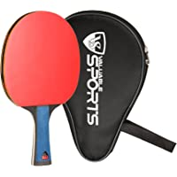 Valuable Sports Rubber Table Tennis Paddle, Professional PingPong Racket with Case, 5-ply Carbon Blade