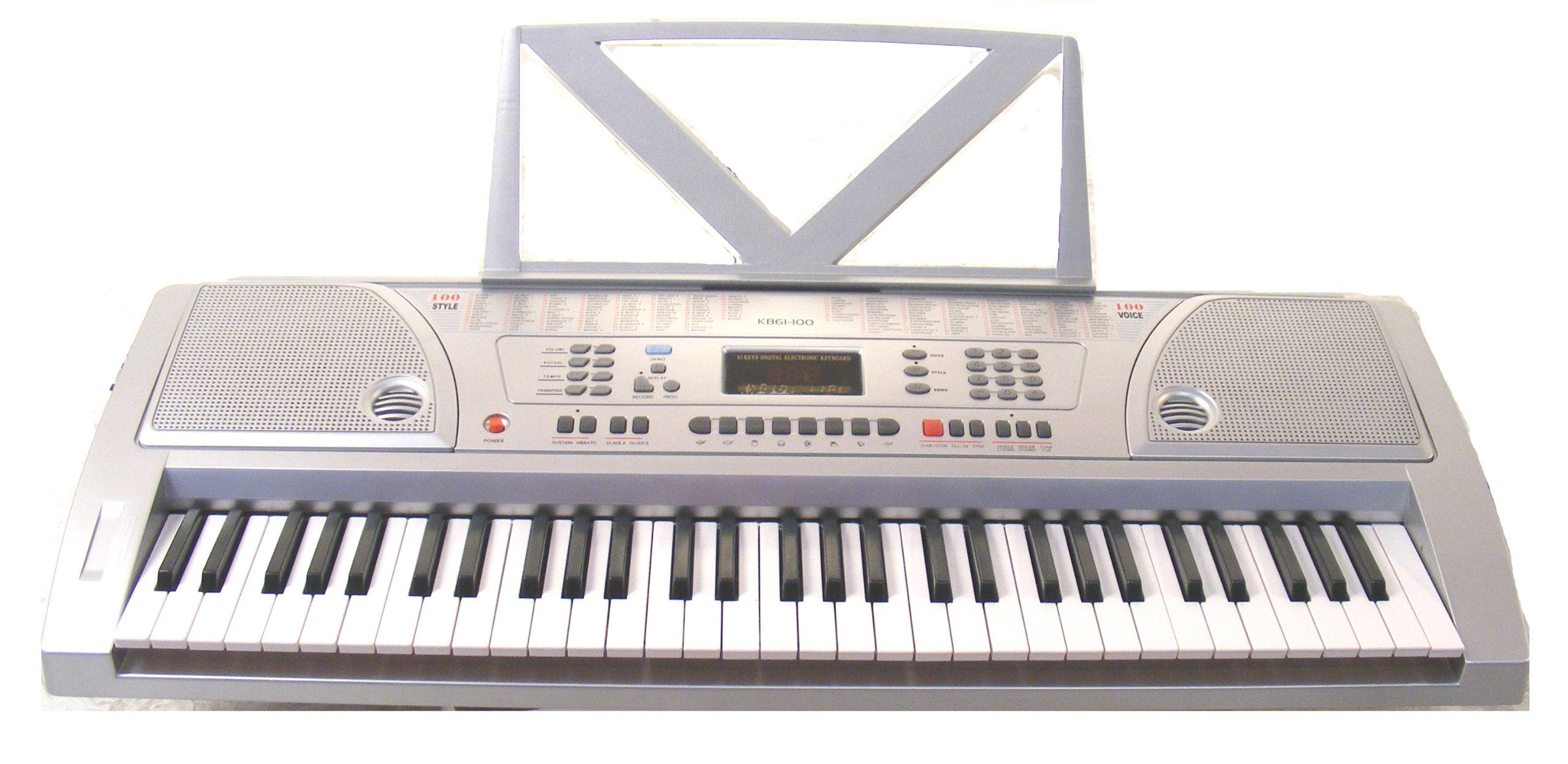Huntington KB61-100 61-Key Portable Electronic Keyboard,  Silver by Huntington