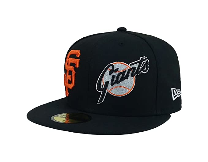 low priced c1f86 d0704 New Era 59Fifty Hat MLB San Francisco Giants Heritage Patch d Up Black  Fitted Cap