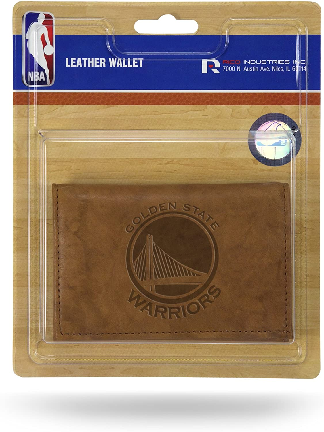 NBA Golden State Warriors Leather Trifold Wallet with Man Made Interior