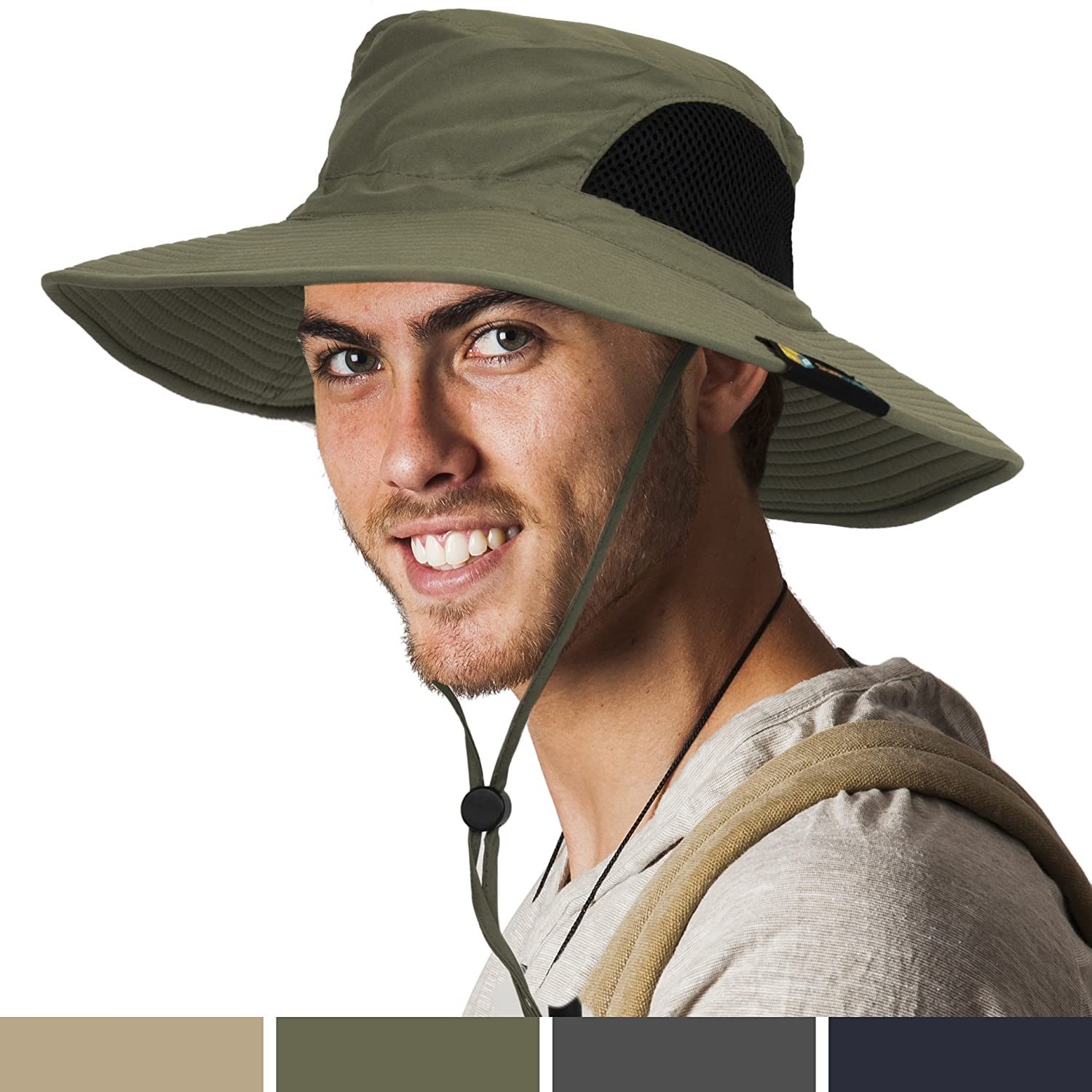 5a6f0880b Details about SUN CUBE Premium Boonie Hat with Wide Brim, Adjustable Chin  Strap | Outdoor...
