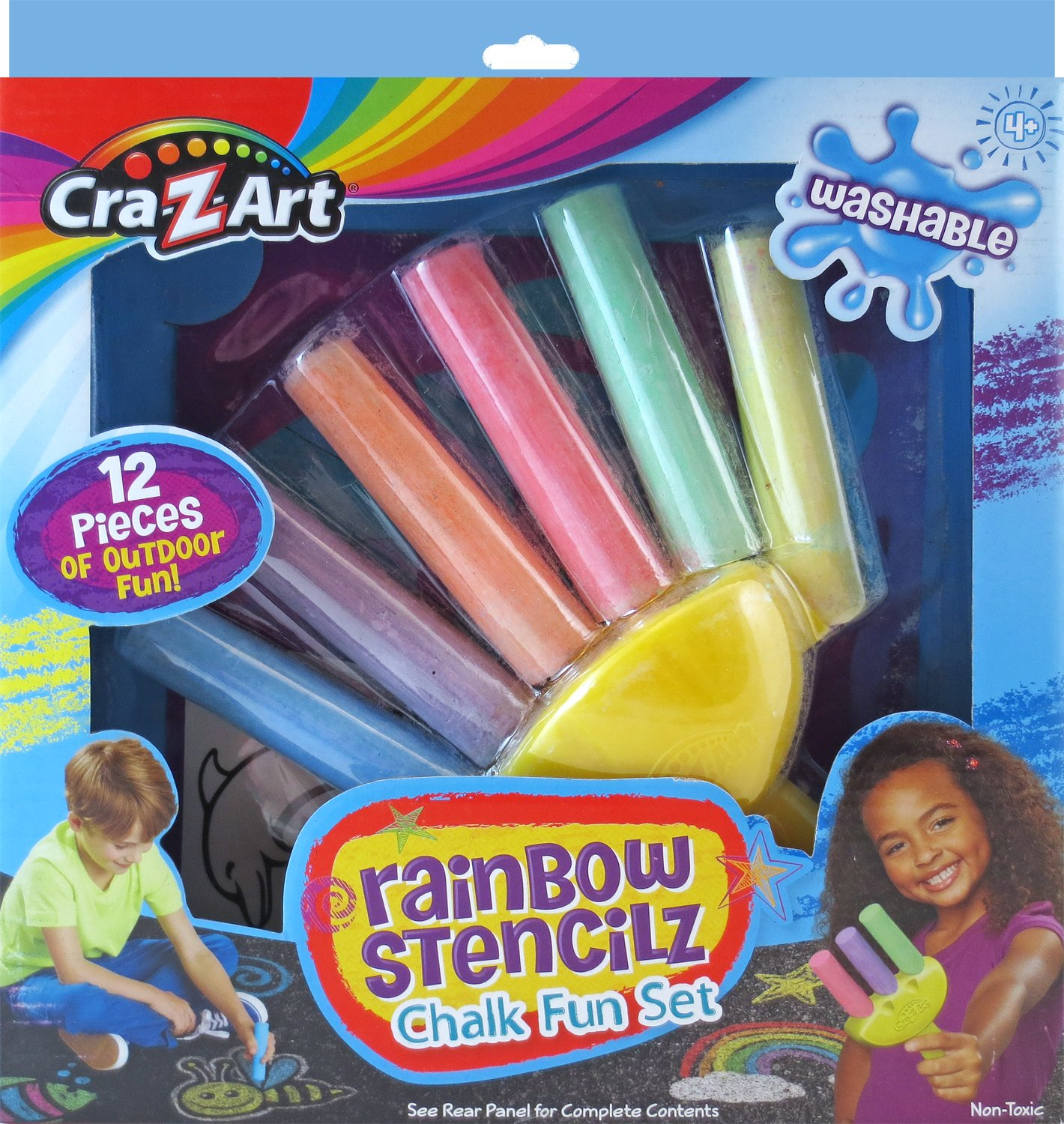 Cra-Z-Art Rainbow Stencilz Chalk Fun Set