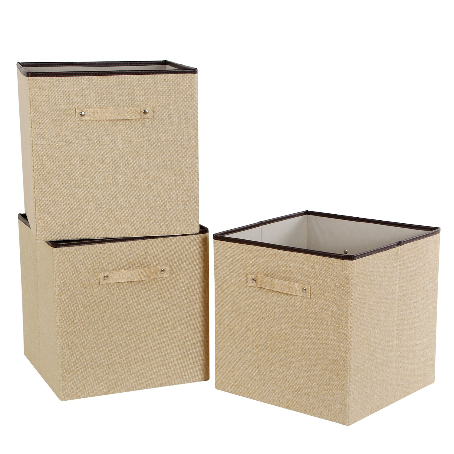 Lifewit 13'' x 13'' x 13'' Foldable Cube Storage Bins,Polyester Storage Basket for Shelves, Clothes, Kid Toys Cube Organizer, 3-Pack