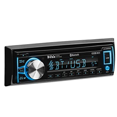 BOSS Audio Systems Elite 560BRGB Car Stereo - Single Din, Bluetooth Audio and Hands-Free Calling, CD, MP3, USB, AUX Input, AM/FM Radio Receiver, Multi Color Illumination, Detachable Front Panel