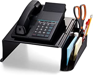 Officemate Telephone Stand, 12.5 x 10 .125 x 5.25 Inches, Black (21522)