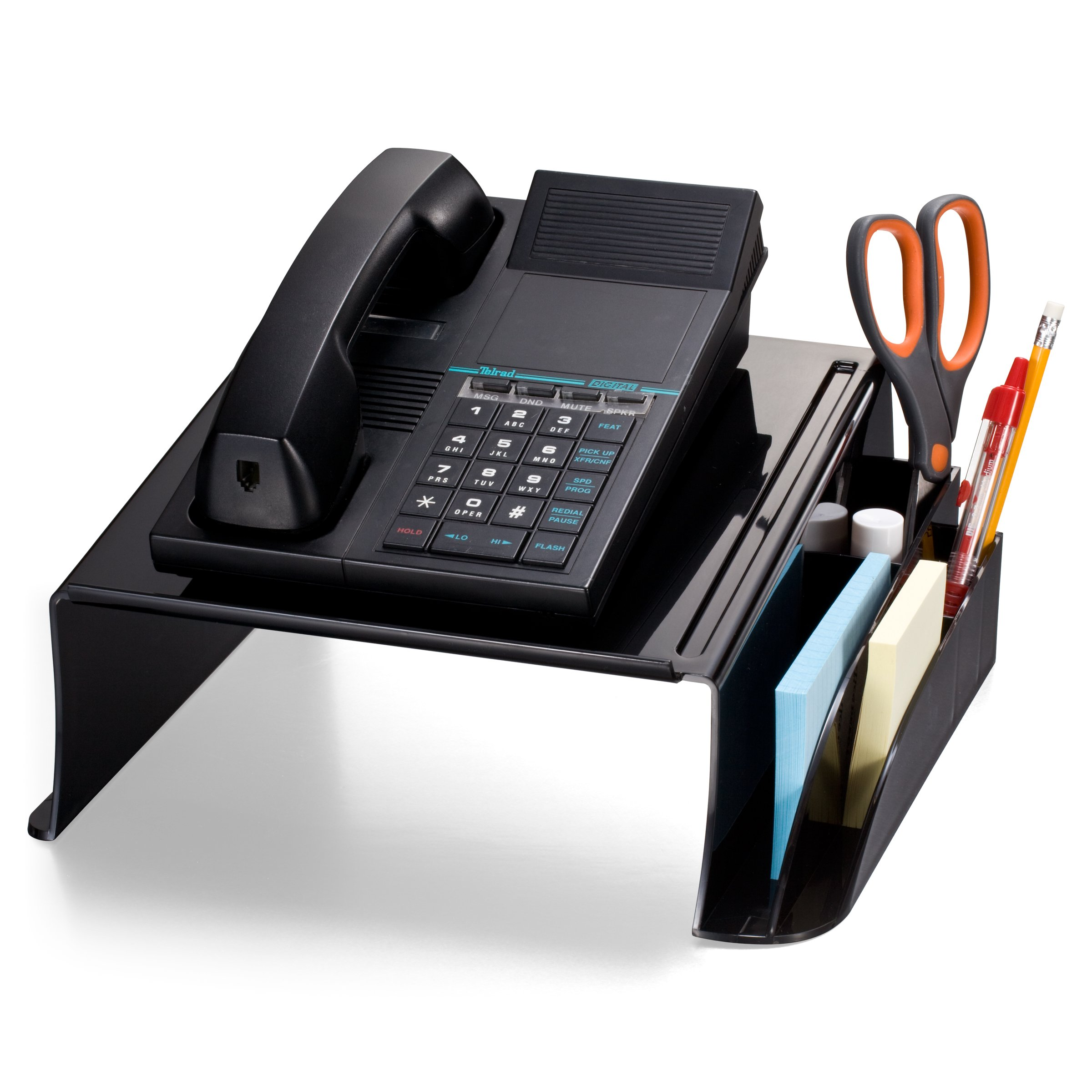 Officemate Telephone Stand, 12.5 x 10 .125 x 5.25 Inches, Black (21522) by Officemate