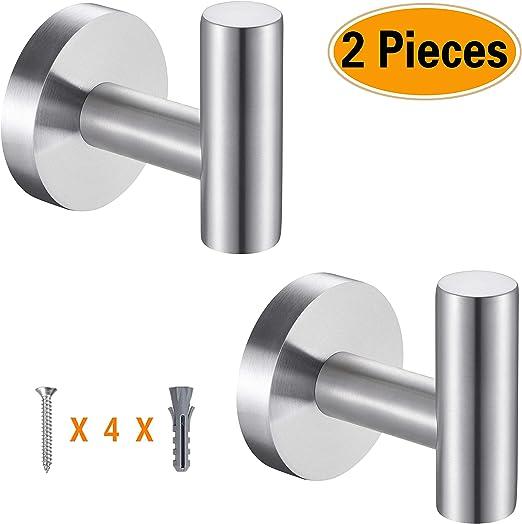 Kitchen Cylindrical Hook Stainless Steel Bathroom Hooks Coat Hooks