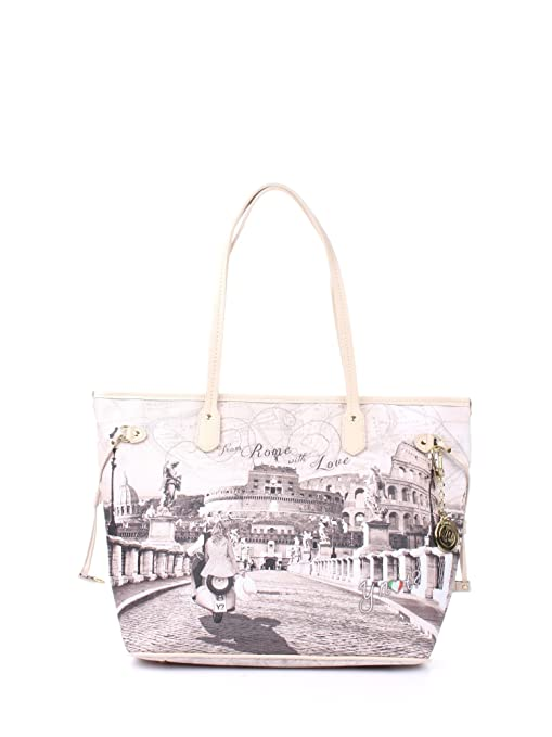 Borsa donna Shopping grande Y Not stampa Roma with Love - Serie Yes Bag  Instant - 8a2aa0c971b