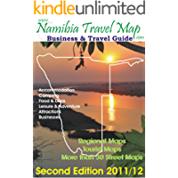 Namibia Travel Map 2nd Edition